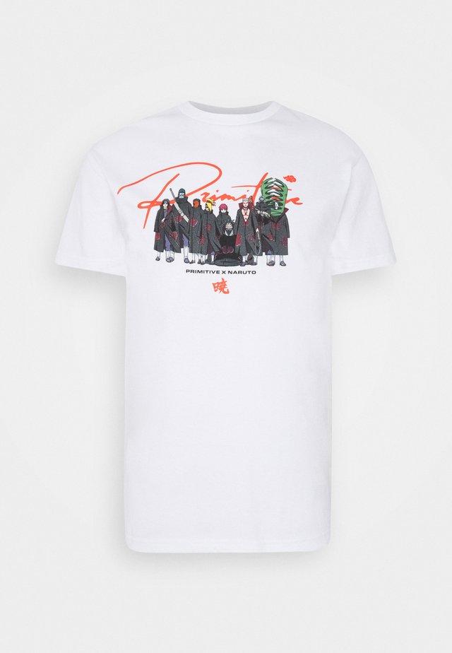 AKATSUKI CLAN TEE - T-shirts med print - white