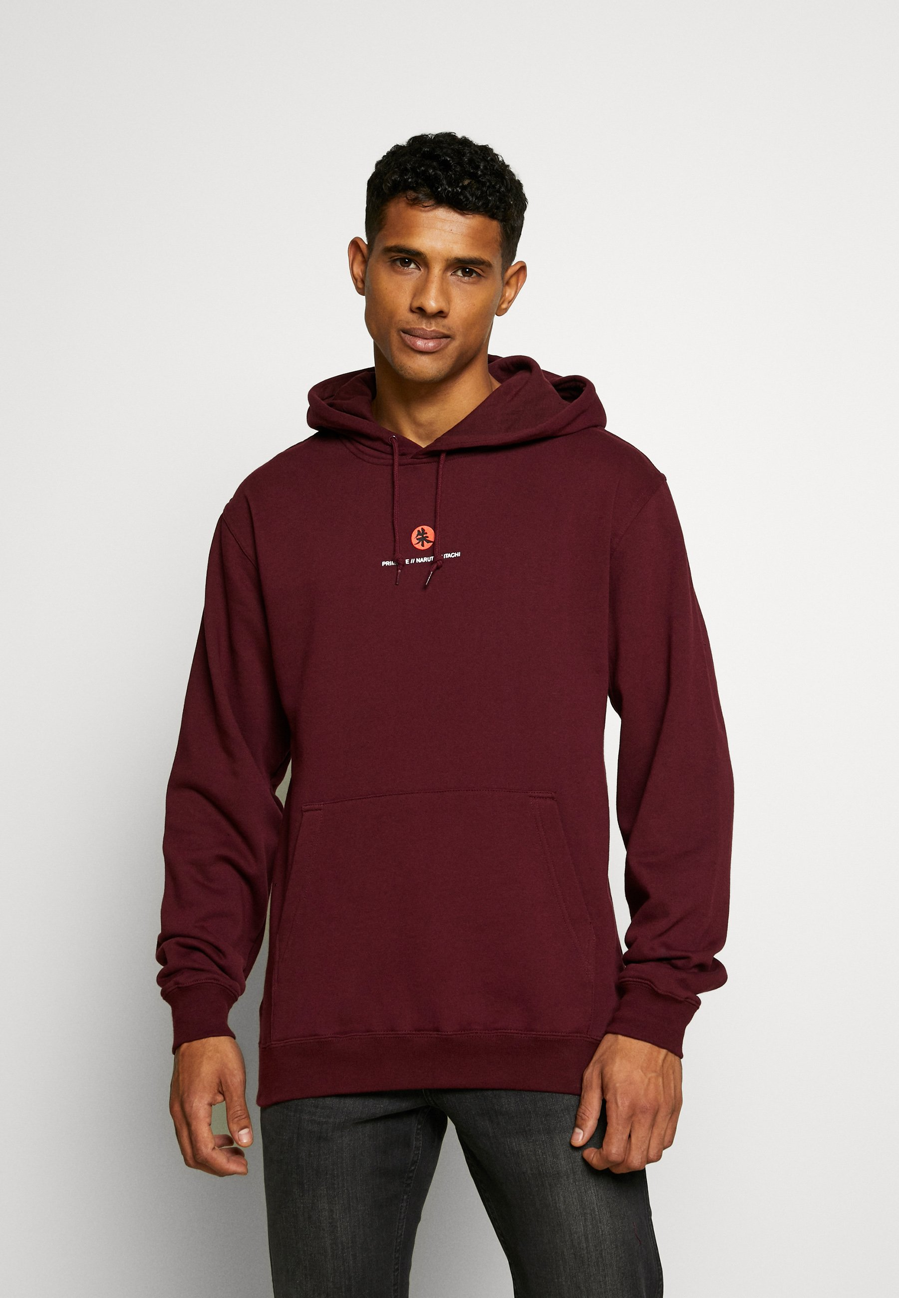 Primitive NARUTO CROWS HOOD - Bluza z kapturem - burgundy