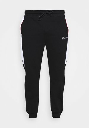 WILBERTON JOGGER WITH CONTRAST TRIM - Pantalon de survêtement - black