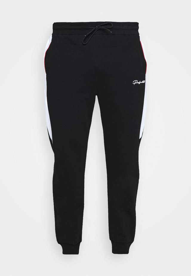 WILBERTON JOGGER WITH CONTRAST TRIM - Träningsbyxor - black