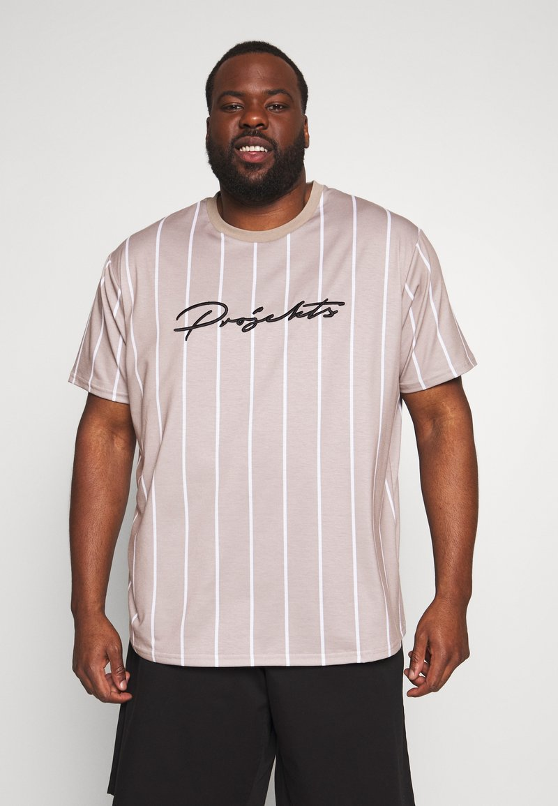 Projekts NYC - HARROW SIGNATURE IN CAMO - T-shirt print - dark sand