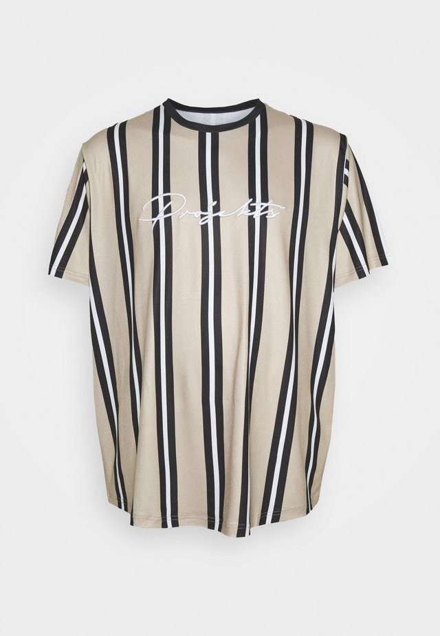STRIPED MCRAE - T-shirt med print - stone