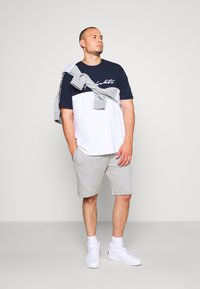 Projekts NYC - PROJEKTS NYC ASTOR COLOUR BLOCK - Print T-shirt - navy - 1