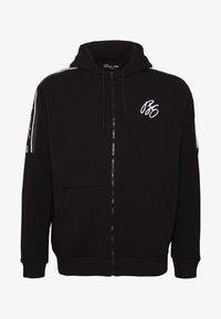 Projekts NYC - MCKINNON ZIP THROUGH TAPED HOODIE - Zip-up hoodie - black - 4