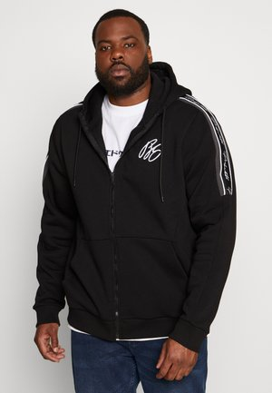 MCKINNON ZIP THROUGH TAPED HOODIE - Zip-up hoodie - black