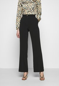 Progetto Quid - TROUSERS - Tygbyxor - black - 0