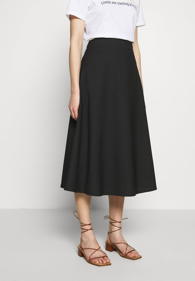 SKIRT - A-linjekjol - black