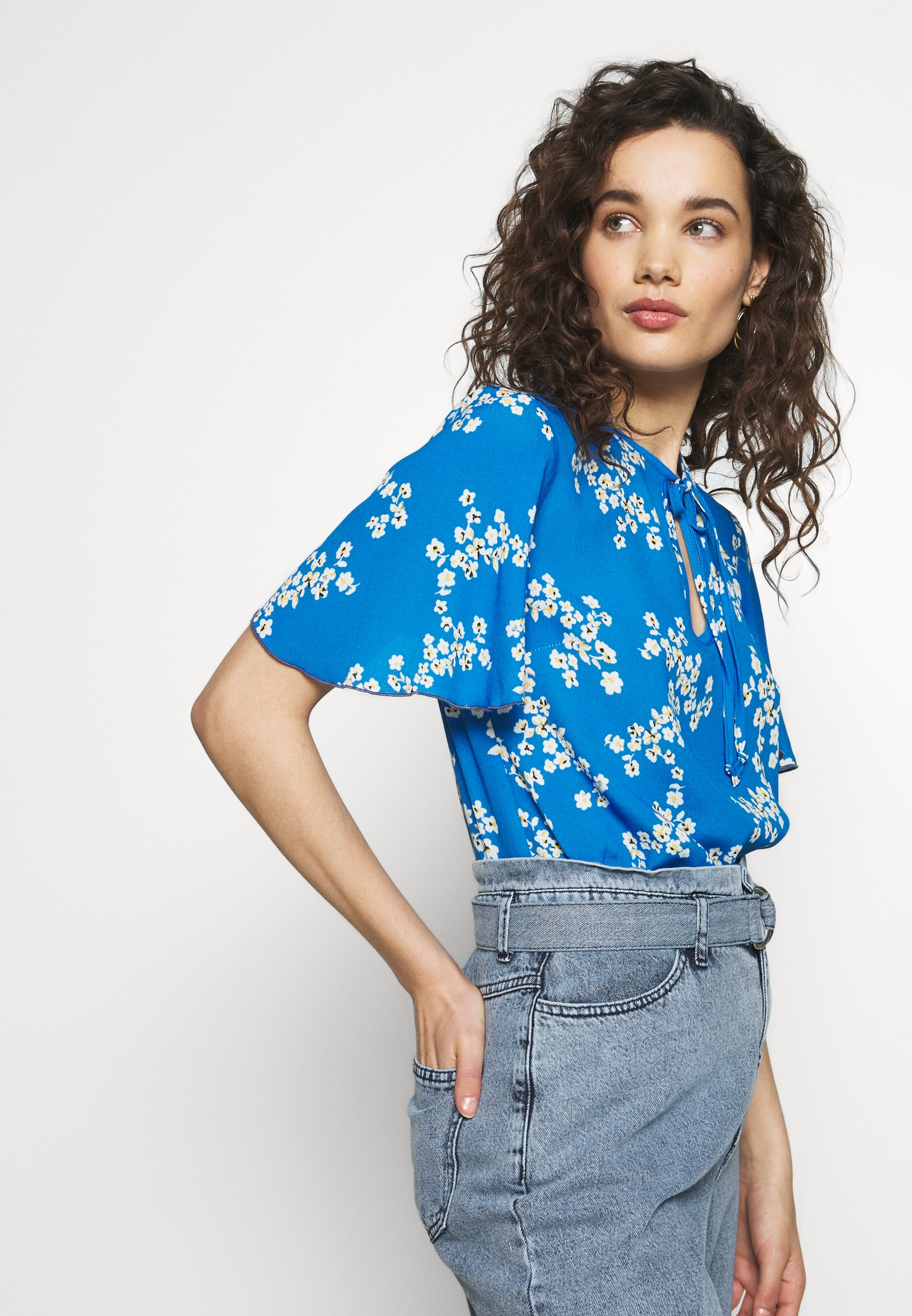Progetto Quid Blouse - light blueflowers l9E6o