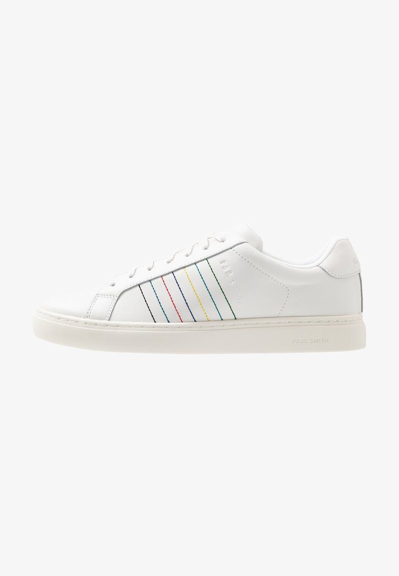 PS Paul Smith - MENS SHOE REX EMBROIDERED STRIPES - Trainers - white