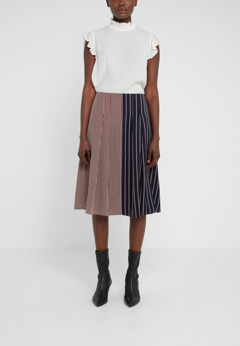 PS Paul Smith - A-line skirt - dark blue/red