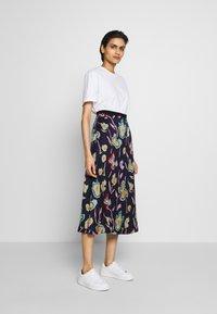 PS Paul Smith - A-line skirt - dark blue - 1