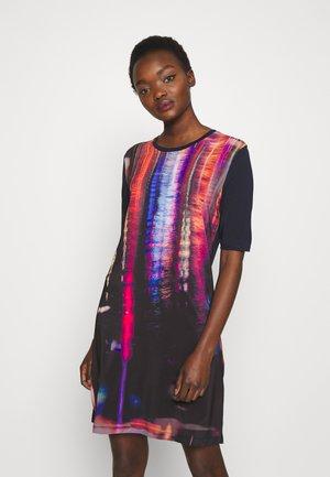 Jerseykleid - navy/multicolor