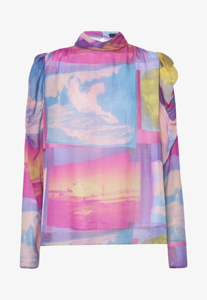 Blouse - pink/blue