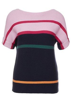 T-shirt print - light pink/dark blue