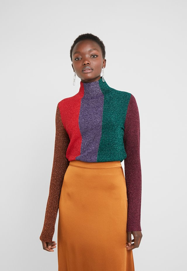 Sweter - green/red