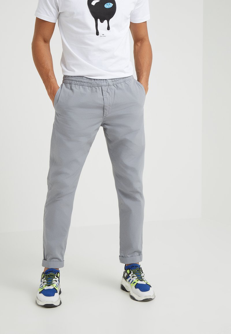 PS Paul Smith - DRAWSTRING TROUSER - Trousers - grey
