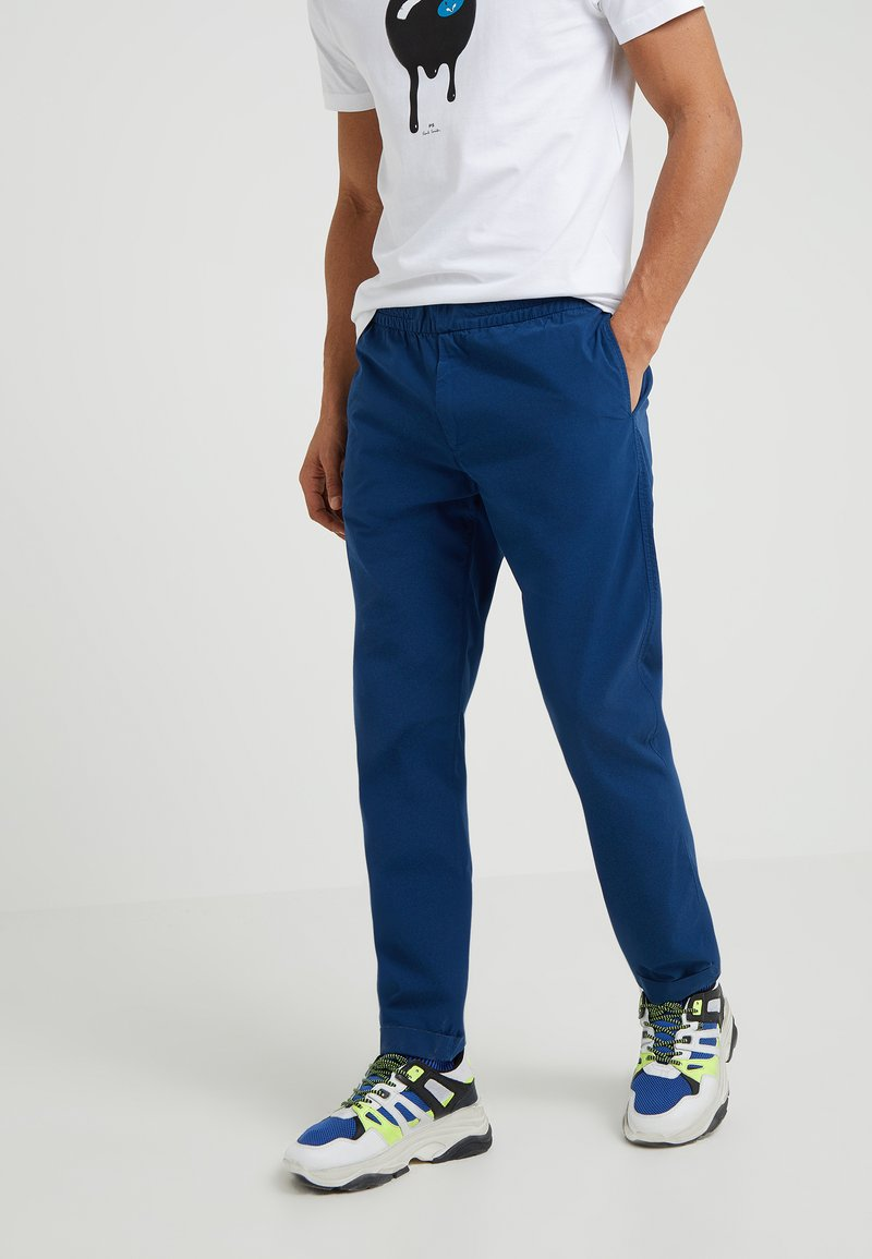 PS Paul Smith - DRAWSTRING TROUSER - Stoffhose - indigo