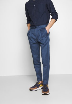 MENS TROUSER PLEATED - Trousers - blue