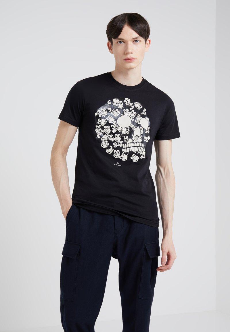 PS Paul Smith - MONKEY SKULL SLIM FIT - T-Shirt print - black
