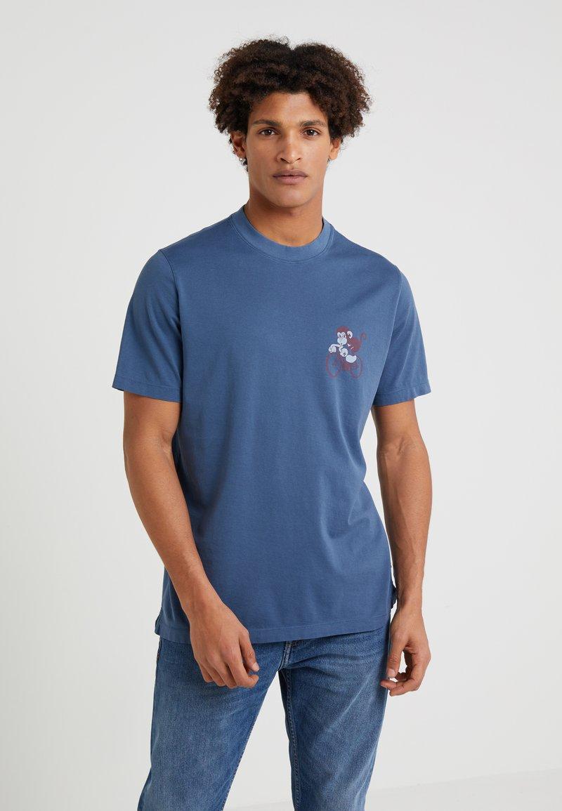 PS Paul Smith - MONKEY - Print T-shirt - grey/blue