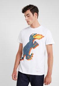PS Paul Smith - REGULAR FIT DINO - T-Shirt print - white - 0