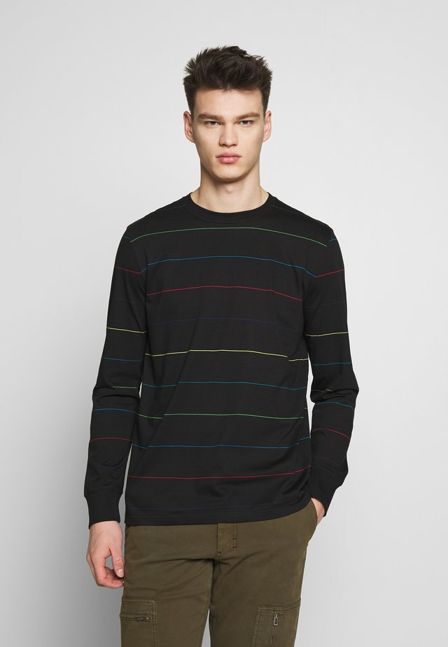 LONG SLEEVE STRIPE - Top s dlouhým rukávem - black