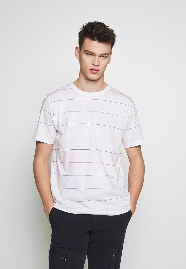 SHORT SLEEVE STRIPE - Print T-shirt - white