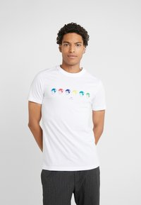PS Paul Smith - SLIM FIT MONKIES - T-shirts med print - white - 0