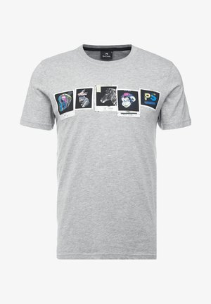 SLIM FIT PHOTOS - T-shirts med print - grey
