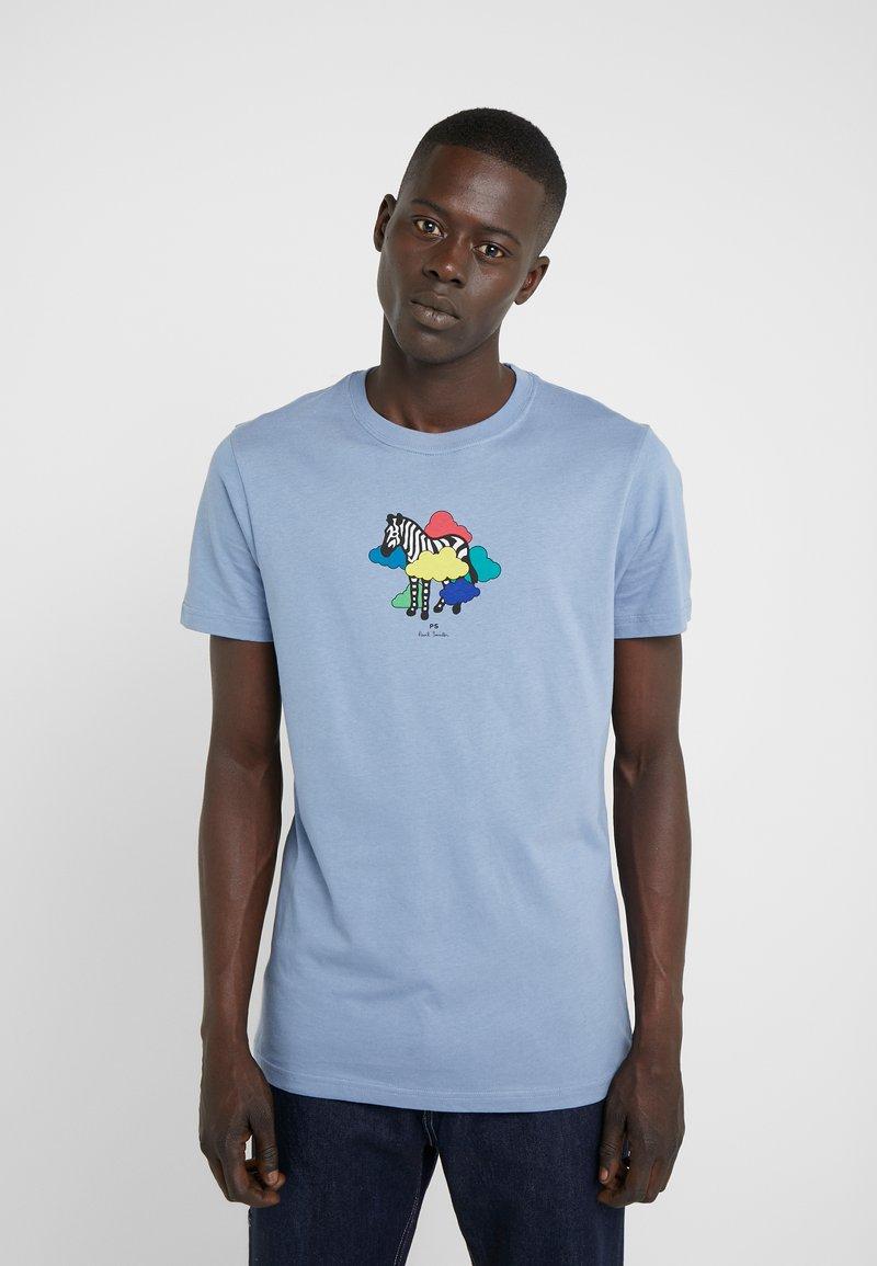 PS Paul Smith - MENS SLIM FIT TSHIRT CLOUD ZEBRA - Print T-shirt - blue
