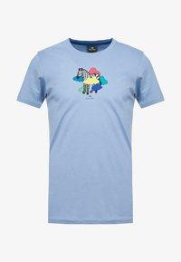 PS Paul Smith - MENS SLIM FIT TSHIRT CLOUD ZEBRA - Print T-shirt - blue - 4