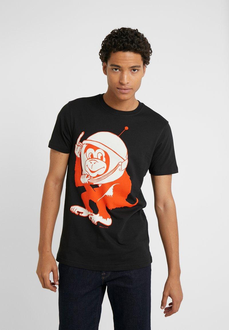 PS Paul Smith - LIM FIT SPACE MONKEY - T-shirts print - black