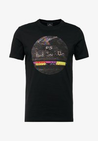 PS Paul Smith - SLIM FIT INTERFEARENCE - T-shirt z nadrukiem - black - 3