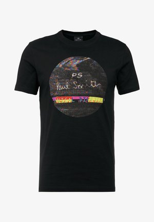 SLIM FIT INTERFEARENCE - T-Shirt print - black