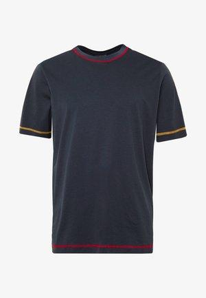 STITCHING - Jednoduché triko - navy