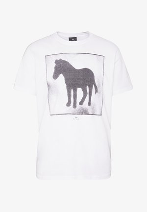 SPRAY ZEBRA - T-shirt z nadrukiem - white