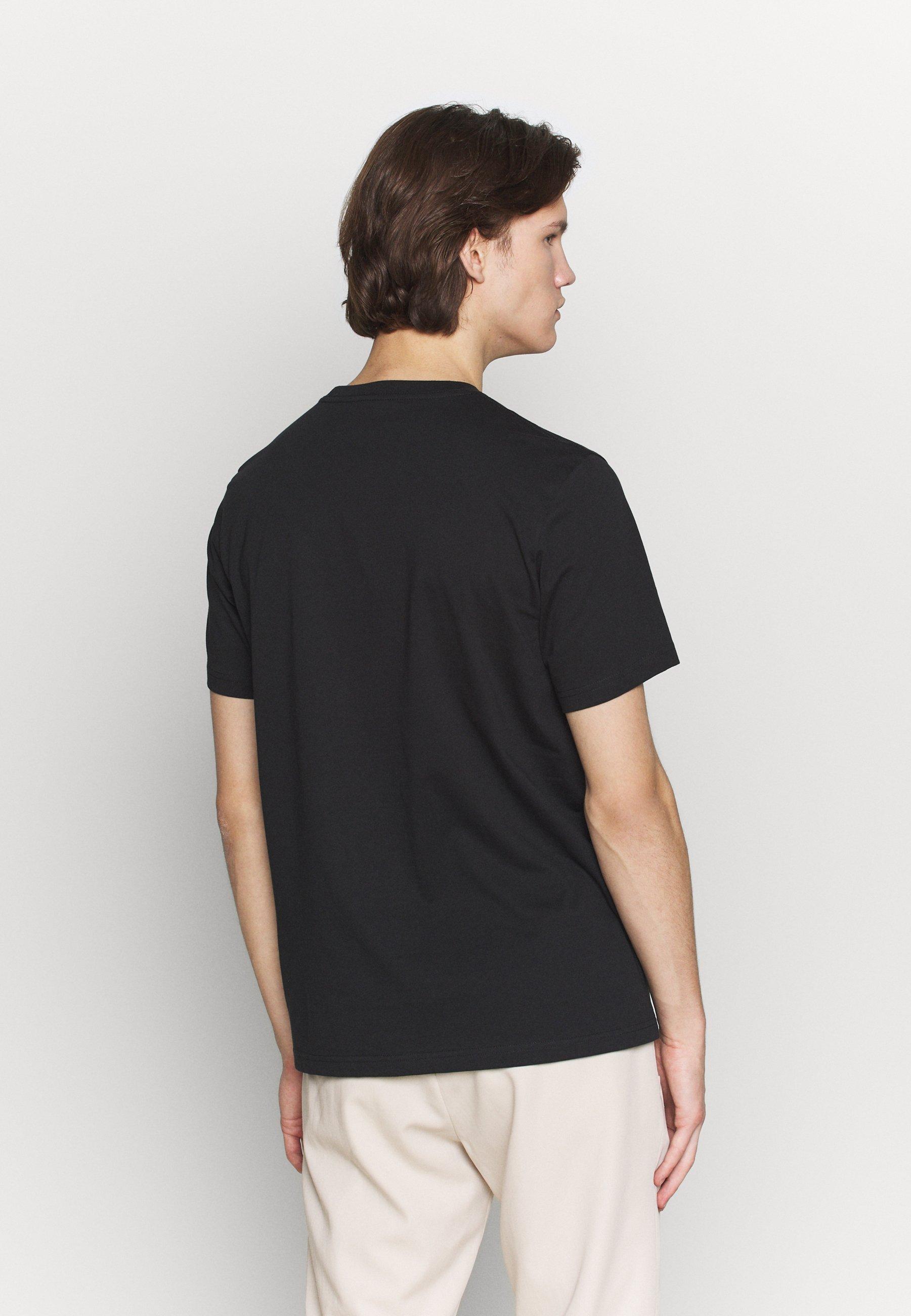 PS Paul Smith SPRAY ZEBRA - T-shirt z nadrukiem - black