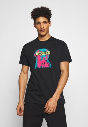 FIT TOMORROW - T-shirt z nadrukiem - black