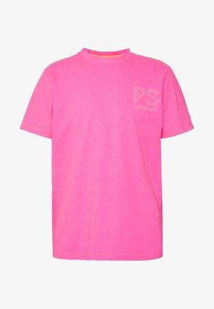 T-shirt z nadrukiem - neon pink