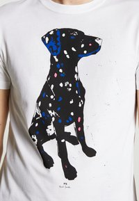 PS Paul Smith - MENS  DALMATION - T-shirt z nadrukiem - white - 5