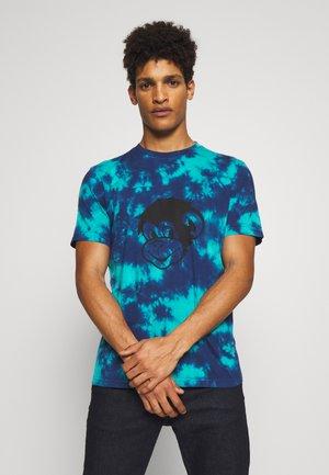 TIEDYE MONKEY - Print T-shirt - blue