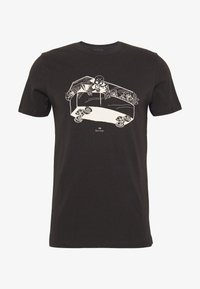 PS Paul Smith - SLIM FIT COFFIN - T-shirts med print - black - 4