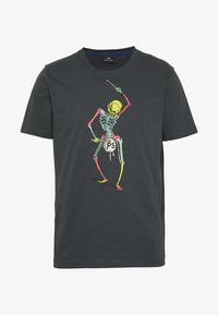 PS Paul Smith - DRUM SKELETON - T-shirts med print - dark grey - 4