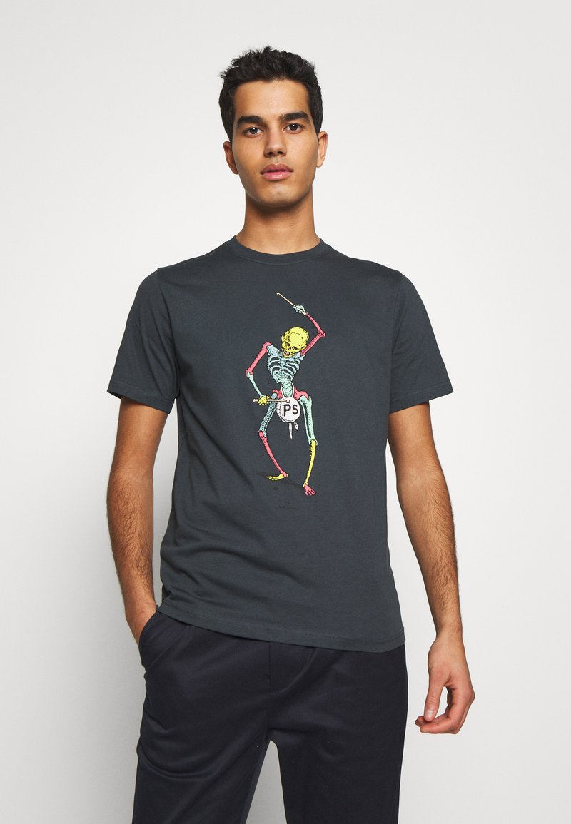 PS Paul Smith - DRUM SKELETON - T-shirts med print - dark grey