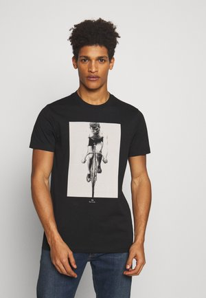 MENS SLIM FIT CYCLIST - T-shirts med print - black