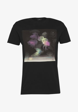 SLIM FIT JELLYFISH - T-Shirt print - black