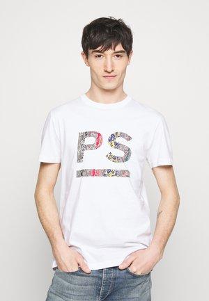 MENS SLIM FIT - T-shirt imprimé - white