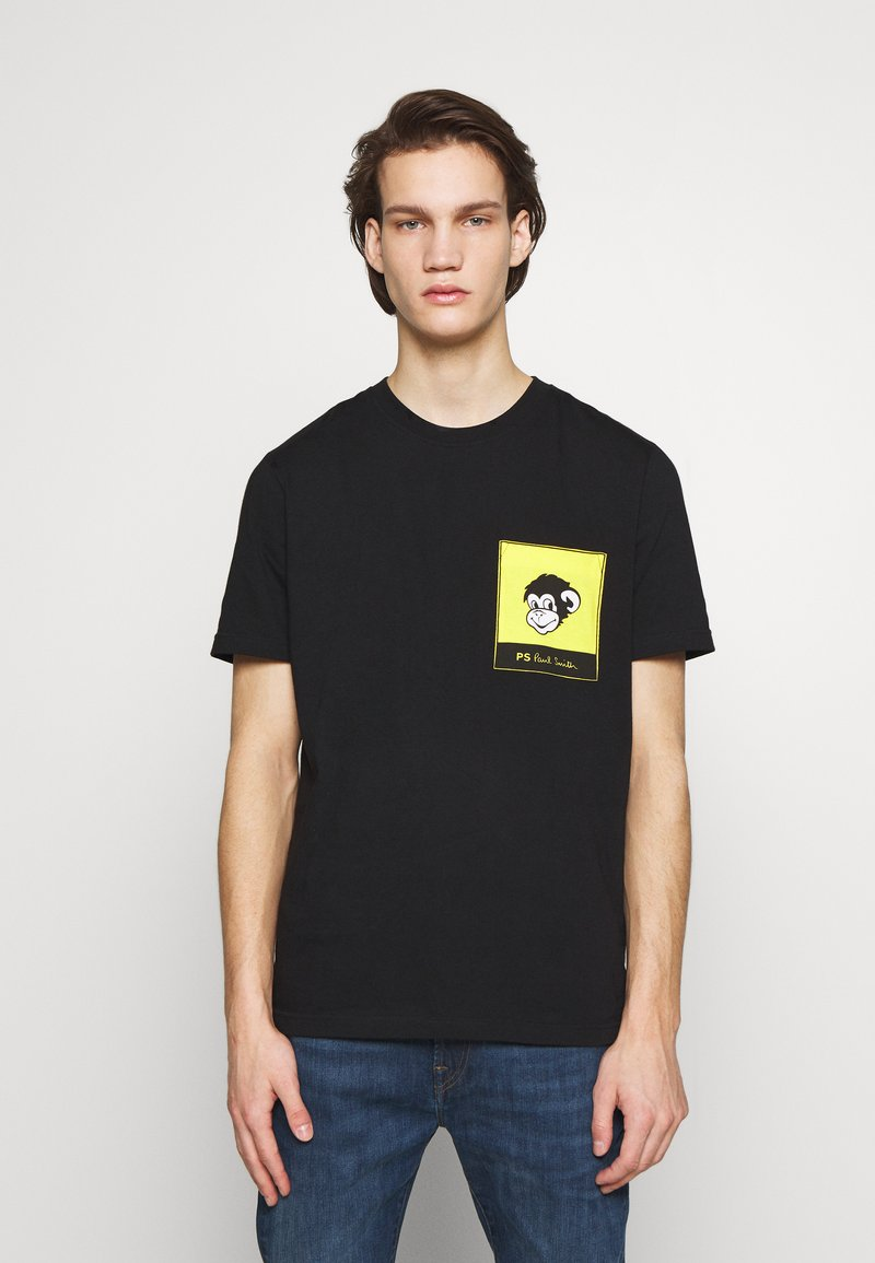 PS Paul Smith - WITH POCKET - T-shirts med print - black