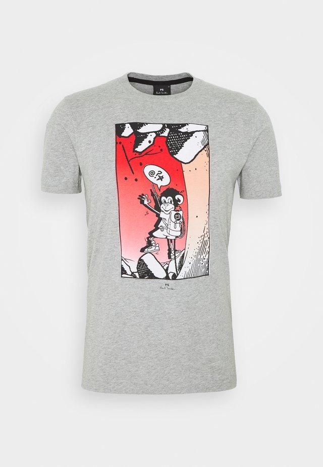 SLIM FIT BOLT JUJU - T-shirt med print - mottled grey