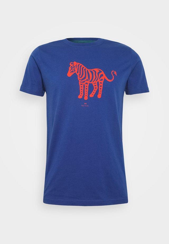 MENS SLIM FIT DEVIL ZEBRA - T-shirt print - blue